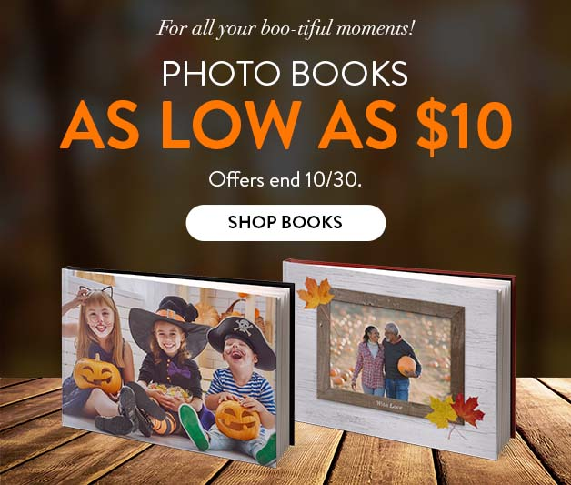 Photo Books as low as $10