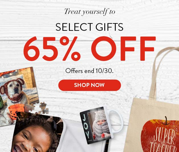 65% off select Gifts