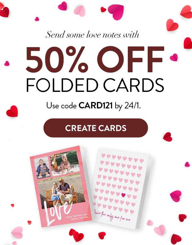 50% off Folded Cards!