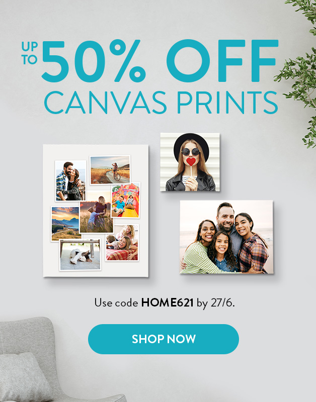 Up to 50% off Canvas Prints!