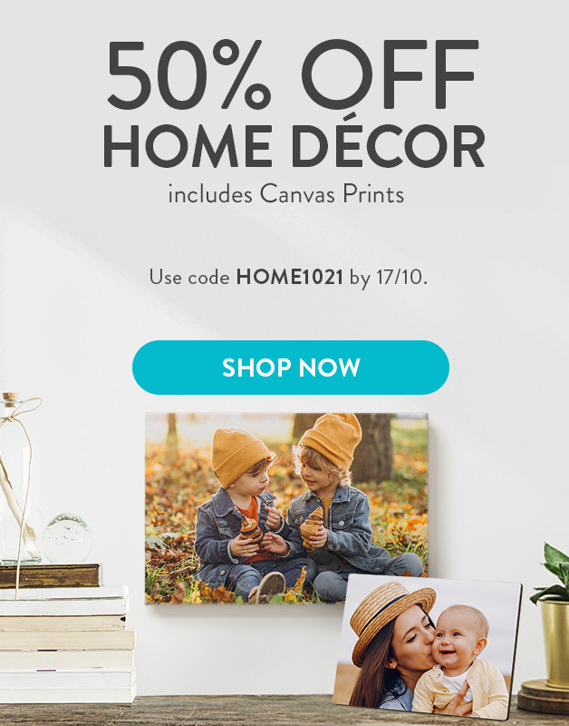 50% off Canvas and Home Decor!