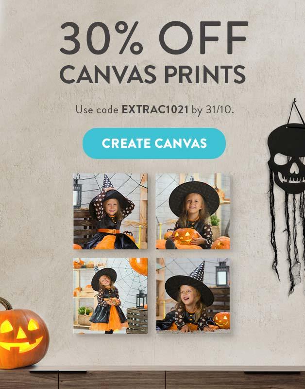 30% off Canvas Prints!