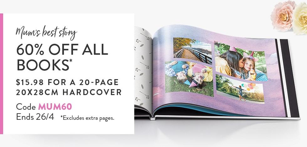 60% off all Photo Books*