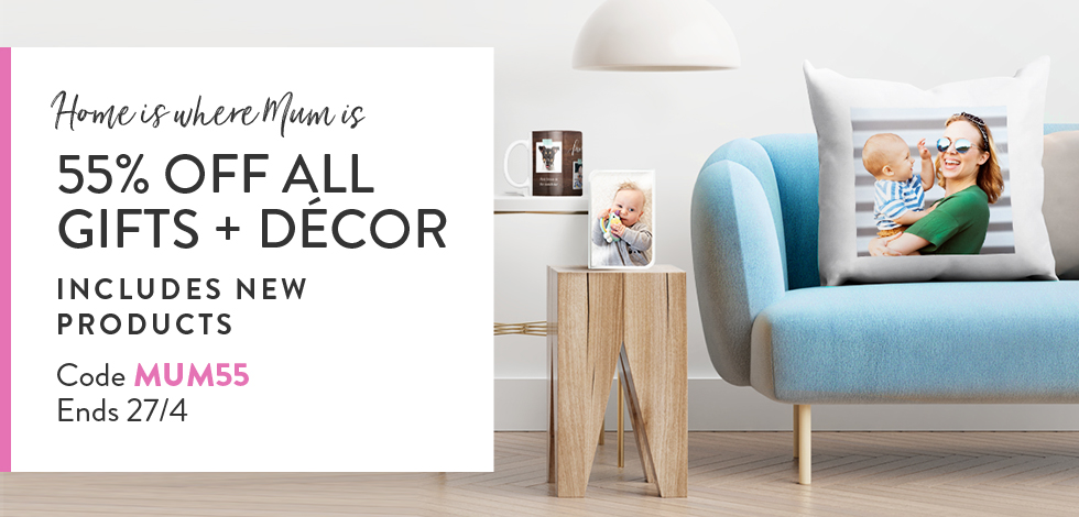 55% off all Home Decor + Photo Gifts
