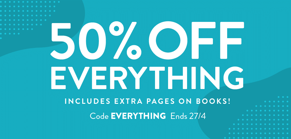 50% off everything!