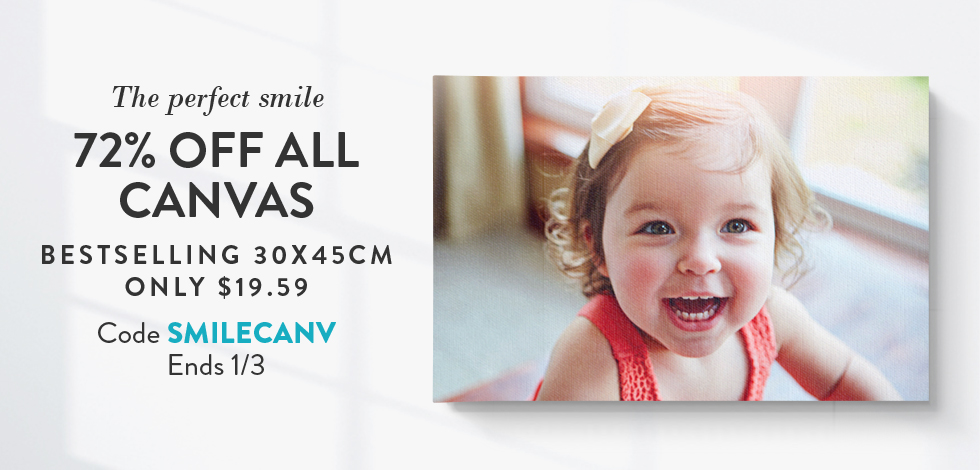 72% off all Canvas Prints