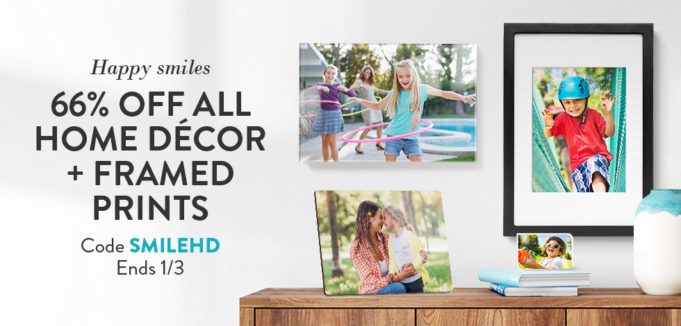 66% off all Home Decor + Framed Prints