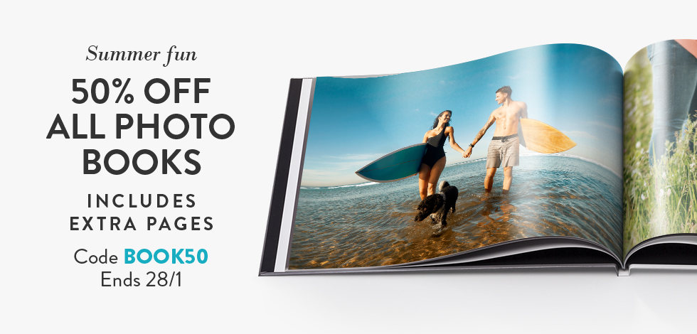50% off all Photo Books