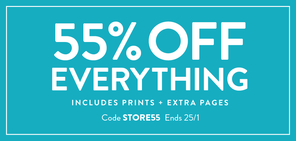 55% off everything!