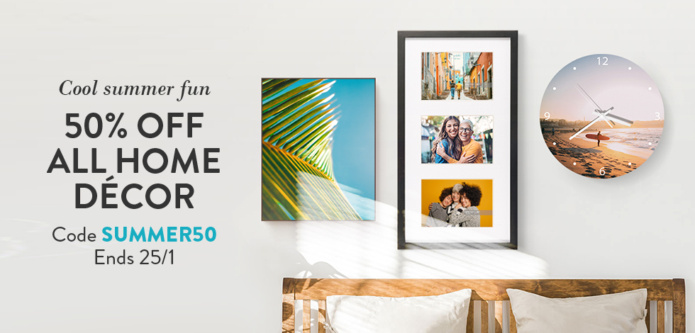 50% off all Home Decor