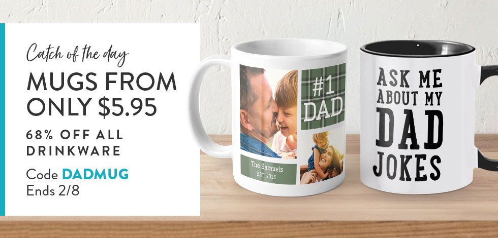 68% off all Mugs + Drinkware