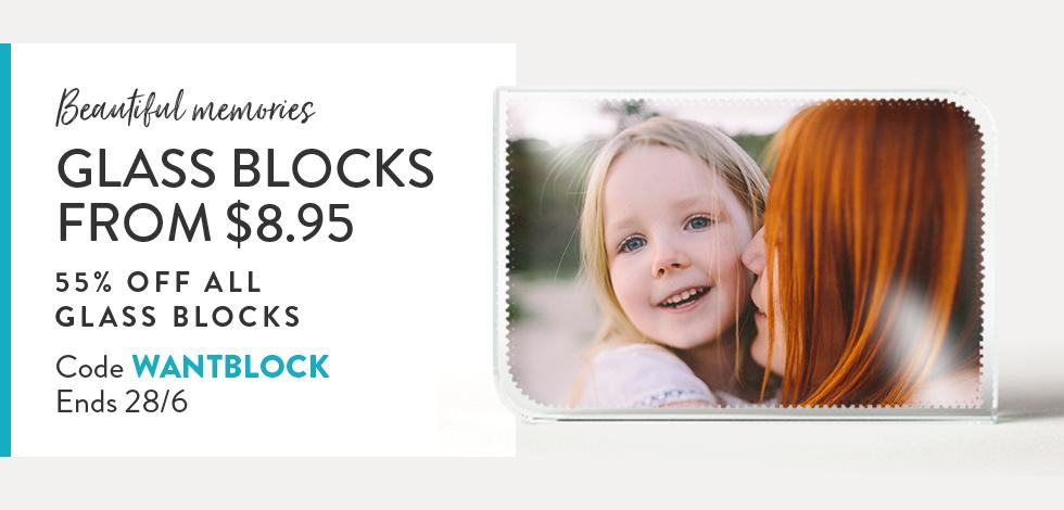 55% off all Glass Blocks