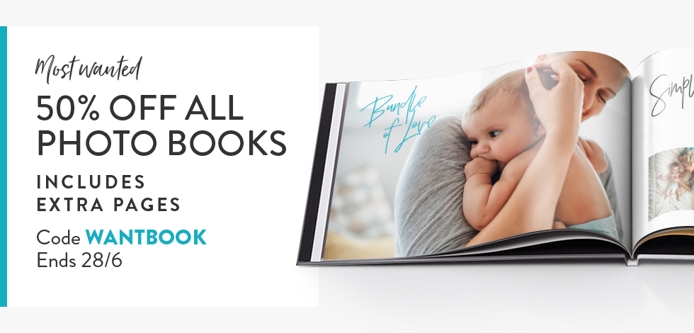 50% off all Books. Inc. extra pages!