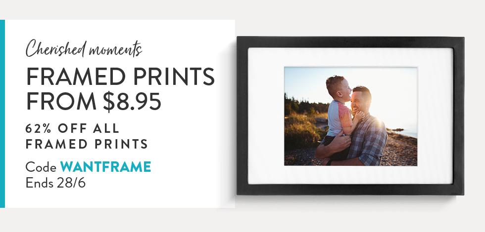 62% off all Framed Prints