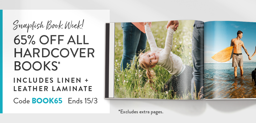 65% off all Hardcover Photo Books*
