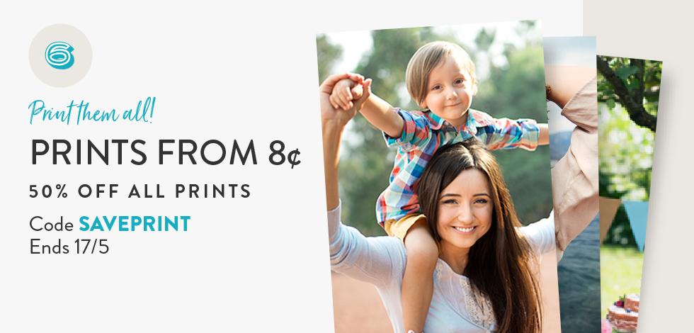 50% off all Prints