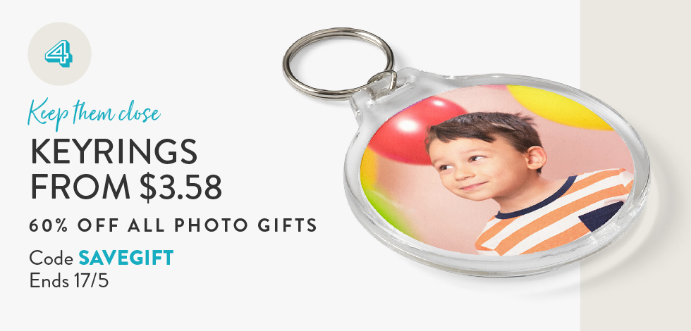 60% off all Photo Gifts