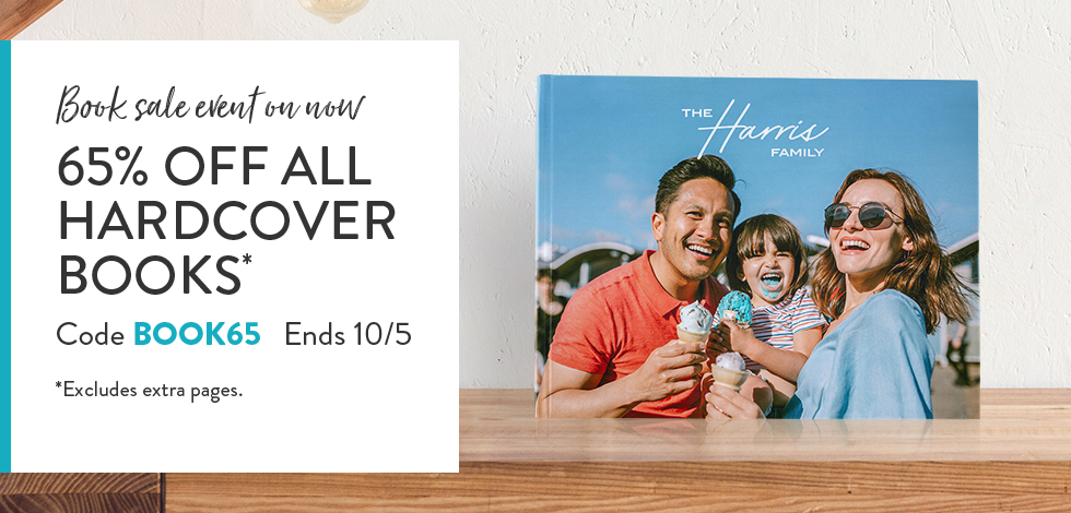 65% off Hardcover Photo Books*