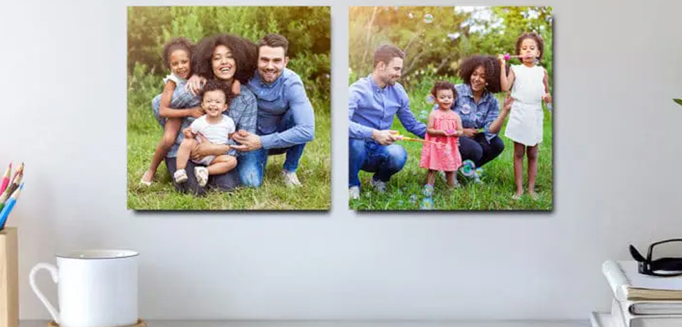 Commemorate little moments with canvas + photo tiles