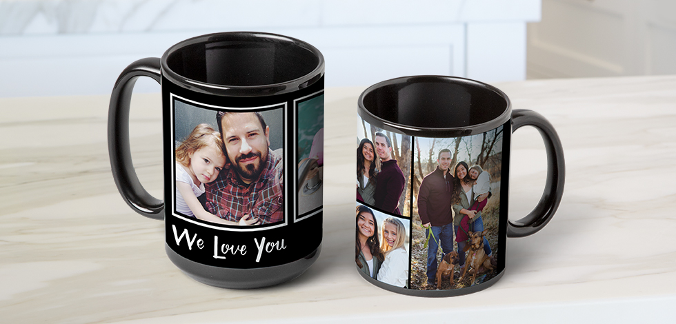 BLACK PHOTO COFFEE MUGS