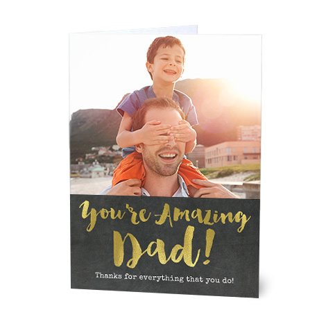 """You're Amazing"" Design Father's Day Card"