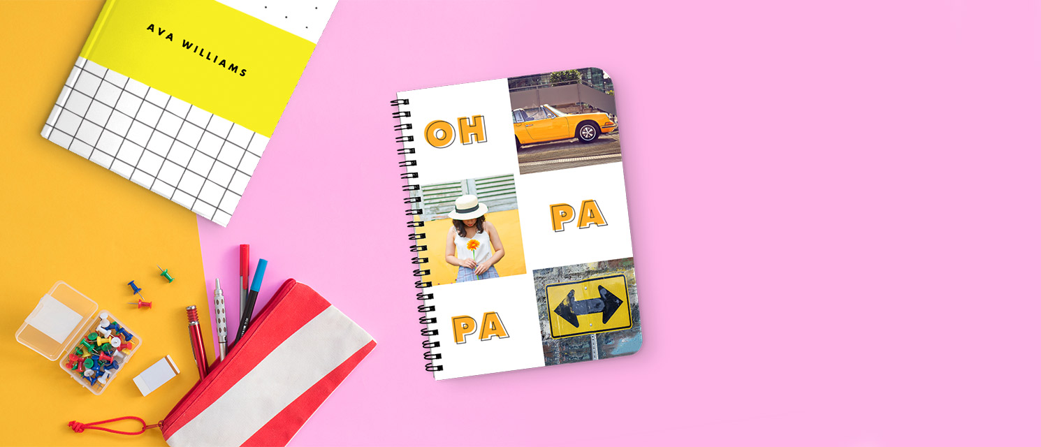NEW Personalised Notebooks : Take a look at our NEW Personalised Notebooks. Available in 3 cover types from just £9.99