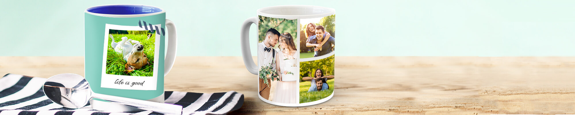 Photo Mugs Enjoy the company of someone special everytime you take a sip. Great gift for the home or office.