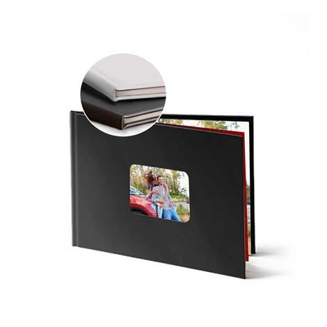 Image of 11x8 (28x20cm) Leather Photo Book (Black)