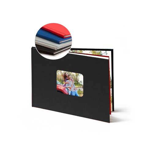 Image of 11x8 (28x20cm) Linen Photo Book (Black)