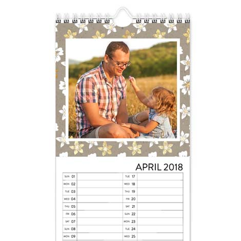 Personalised Kitchen Calendar From £11.99