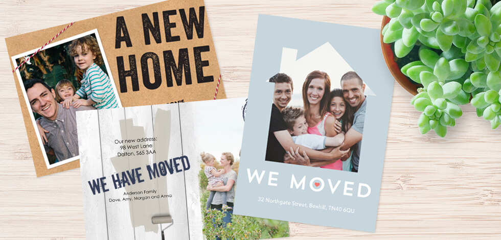 House Move Announcement Cards From 75p