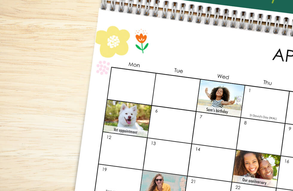 Add Personalised Dates With Our Premium Calendars