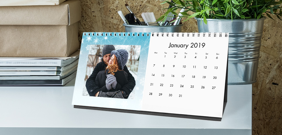 Personalised Desk Calendars From £12.99